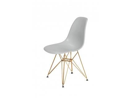 Židle DSR GOLD platinová č.28 - kovově zlatavý základ