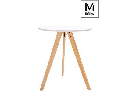 MODESTO stůl TRIPOD *60 bílý, nohy bukové