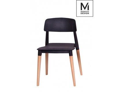 MODESTO židle ECCO černá - polypropylén, bukový základ