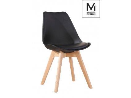 MODESTO židle NORDIC černá - dubový základ