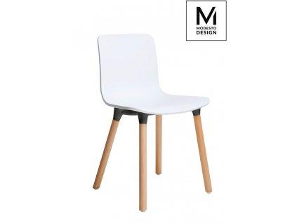 MODESTO židle HOLY WOOD bílá - polypropylén, bukový základ