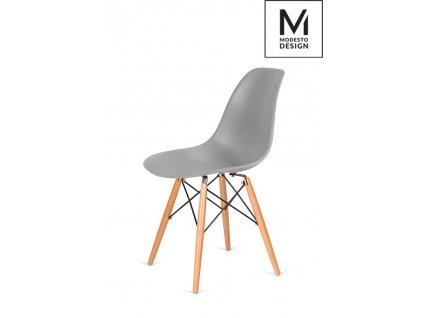 MODESTO židle DSW šedá - bukový základ