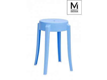 MODESTO stolek CALMAR 46 modrý - polypropylén