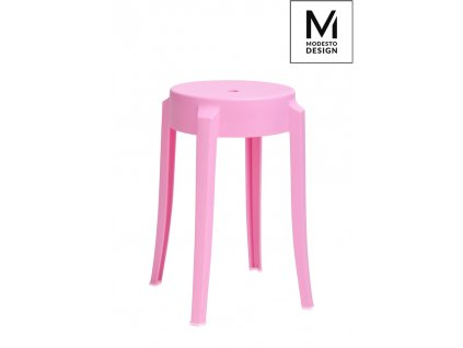 MODESTO stolek CALMAR 46 růžový - polypropylén