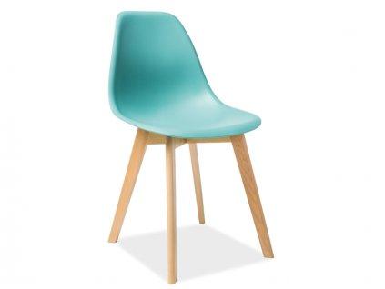 Židle MORIS buk/mátová