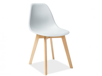 Židle MORIS buk/světle šedá
