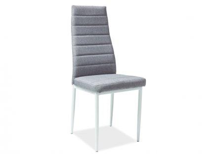 Židle H266 šedá kostra bílá