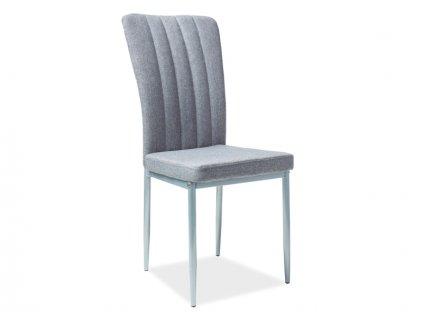 Židle H733 šedý materiál hliníková kostra