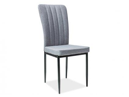 Židle H733 šedý materiál černá kostra
