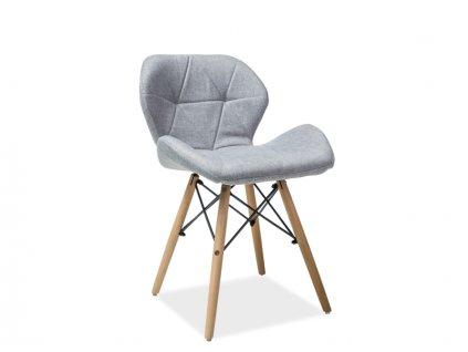 Židle MATIAS II buk/šedá polstrování č.86
