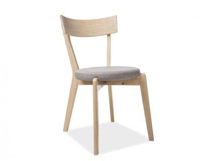 Židle NELSON dub velbloudí/šedá polstrování č.84