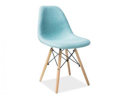 Židle COCO buk/mátová polstrování č.88
