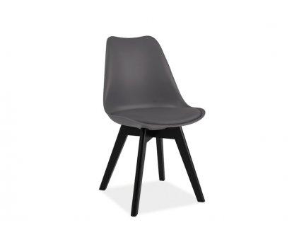Židle KRIS II černá/šedá
