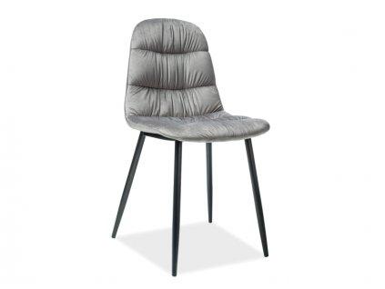 Židle VEDIS šedá samet