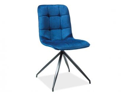 Židle TEXO samet tmavě modrá