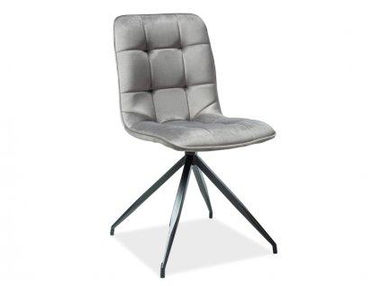 Židle TEXO šedá samet