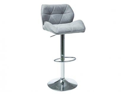 Barová židle C122 šedý materiál
