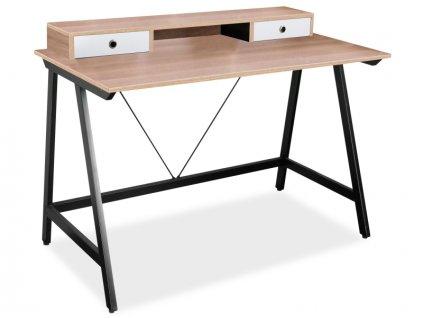 Psací stůl B-178 dub/černý