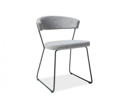 Židle HELIX černá/šedá polstrování č.81