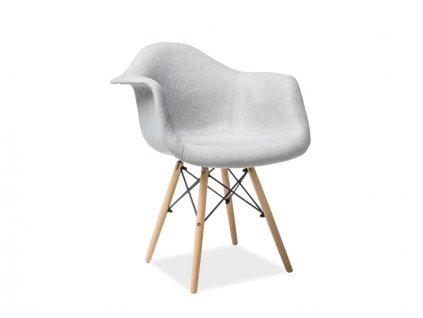 Židle BONO buk/šedá polstrování č.86