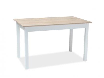 Stůl HORACY dub/bílý 125(170)x75x75