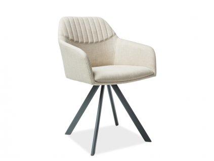 Židle MILTON II šedá/béžová polstrování č.79