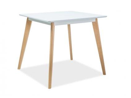 Stůl DECLAN II bílý/buk 80x80