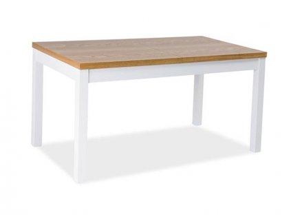 Stůl KENT II bílý/dub (160-240)x90