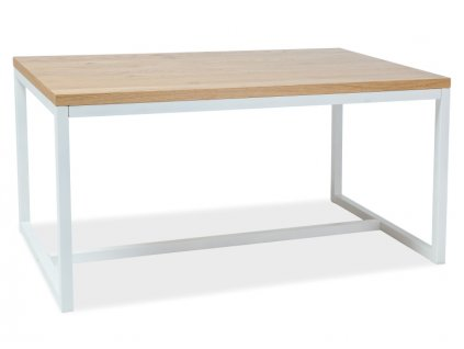 Stůl LORAS A masivní dub/bílý 120x80