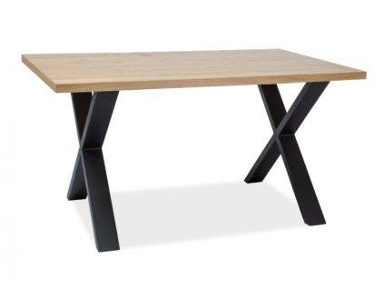 Stůl XAVIERO II masivní dub/černý 150x90