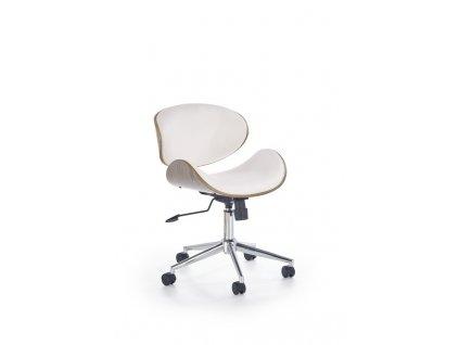 ALTO kancelářské křeslo bílé - světlý dub