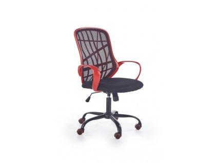 DESSERT kancelářské křeslo červeno - černé