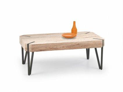 EMILY stolek dub san remo / černý