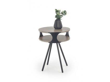 KIRBY stolek černý / tmavý dub sonoma