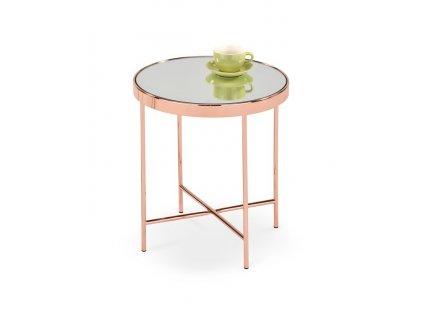 MIRA stolek měď / zrcadlo