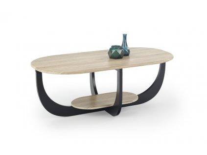 ODILIA stolek dub san remo / černý