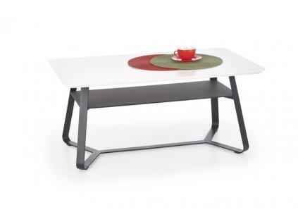 REDONDO 2 stolek obdélníkový bílý / černý