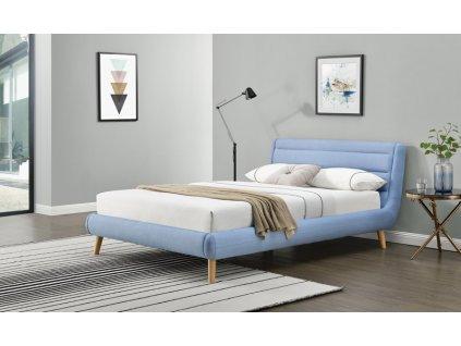 ELANDA 140 cm postel modrá