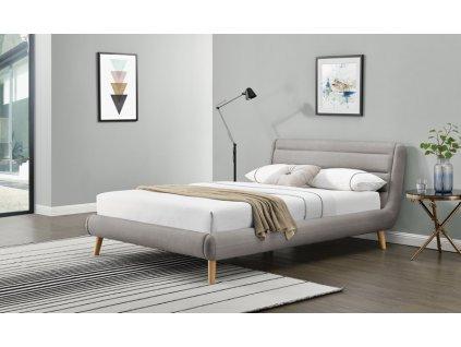 ELANDA 140cm postel světle šedá