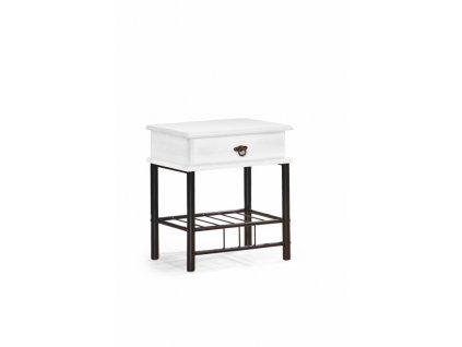 FIONA noční stolek bílý/černý