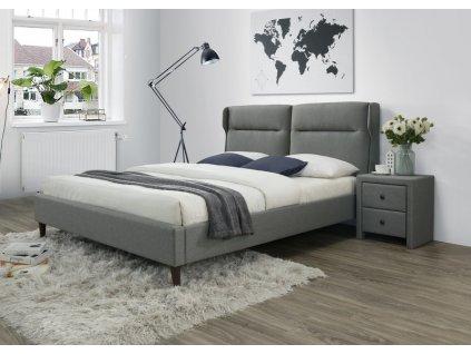 SANTINO postel šedá