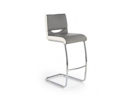 H87 barová židle bílo / šedá