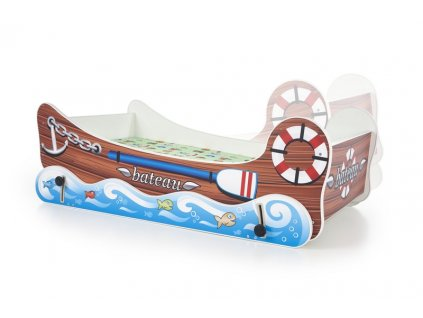 BOAT postel s funkcí kolébky vícebarevná