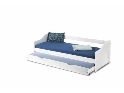 LEONIE 2 postel bílá