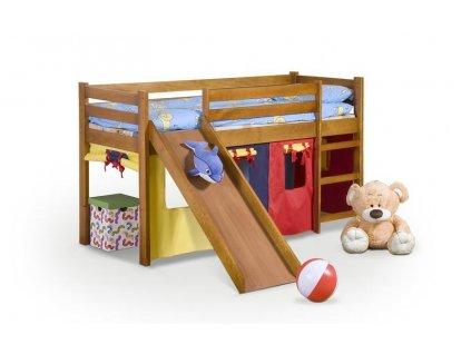 NEO PLUS - patrová postel se skluzavkou a matrací - sosna (1ks=5p.)