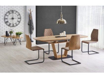BLACKY stůl rozkládací zlatý dub