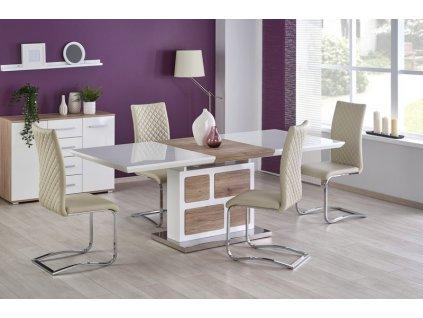 DOMUS stůl bílý / dub san remo
