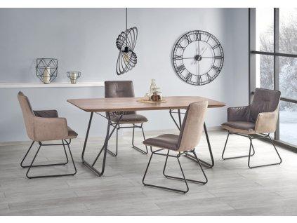 HOUSTON stůl ořech / černý