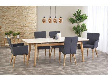 MONTREAL stůl, deska keramika, nohy - jasan