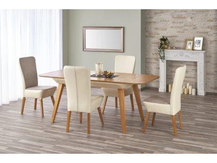 ORCHID stůl rozkládací dub velbloudí / béžový